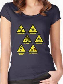 Warning Signs Women's Fitted Scoop T-Shirt
