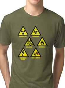 Warning Signs Tri-blend T-Shirt
