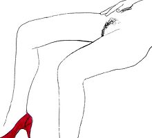 red shoe by Loui  Jover