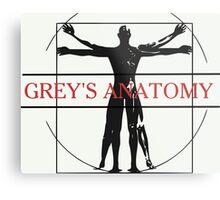 GREY'S ANATOMY- VITRUVIAN Metal Print