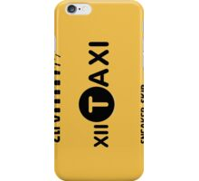 XII Taxi iPhone Case/Skin