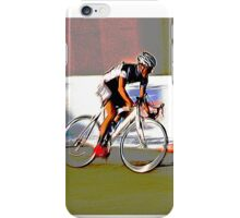 Cyclist chasing shadow iPhone Case/Skin