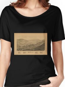 Panoramic Maps Hunter NY Women's Relaxed Fit T-Shirt