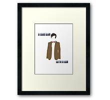 (Rectangle) A mad man with a box Framed Print
