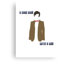 (Rectangle) A mad man with a box Canvas Print