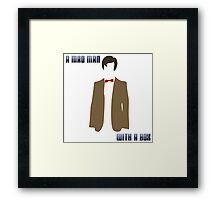 (Square) A mad man with a box Framed Print