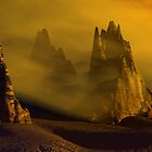 Dust Storm At Sunset by Hugh Fathers