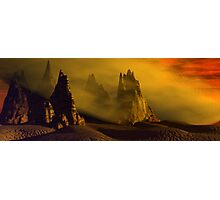 Dust Storm At Sunset Photographic Print