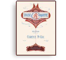 VALSE COQUETTE (vintage illustration) Canvas Print
