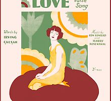 WAS IT LOVE (vintage illustration) by ART INSPIRED BY MUSIC