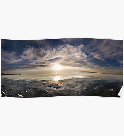 Great Salt Lake Sunset Poster