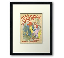 Plaisir au Gold Saucer Framed Print