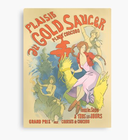 Plaisir au Gold Saucer Canvas Print
