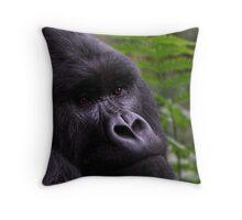 Mountain Gorilla Portrait Throw Pillow