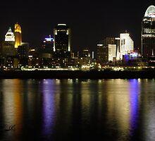Cincinnati Skyline at Night by Sivle