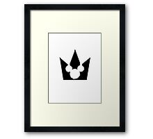 Kingdom Hearts Mickey Crown Poster Framed Print