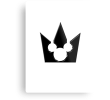 Kingdom Hearts Mickey Crown Poster Metal Print