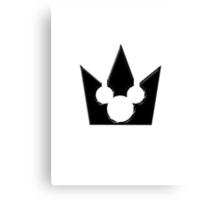 Kingdom Hearts Mickey Crown Poster Canvas Print