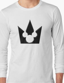 Kingdom Hearts Mickey Crown Poster Long Sleeve T-Shirt