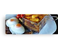 A Slice of Gammon Egg & Chips Canvas Print
