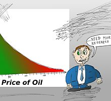 Oil vs. Tourism graph caricature by Binary-Options