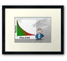 Oil vs. Tourism graph caricature Framed Print