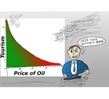 Oil vs. Tourism graph caricature Photographic Print