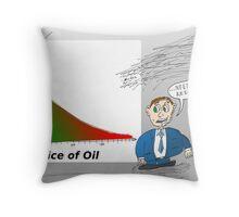 Oil vs. Tourism graph caricature Throw Pillow