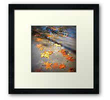 Telling of autumn Framed Print