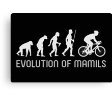 MAMIL Middle Aged Man In Lycra Evolution Shirt Canvas Print