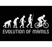 MAMIL Middle Aged Man In Lycra Evolution Shirt Photographic Print