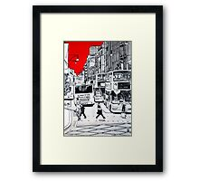 Splash Cities - London 01 Framed Print