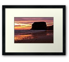 Marsden Rock Framed Print
