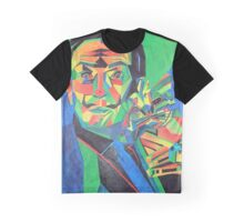 Salvador Dali with Ocelot and Cane Graphic T-Shirt