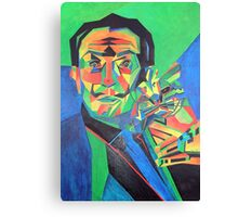 Salvador Dali with Ocelot and Cane Canvas Print