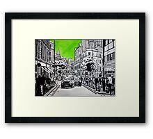 Splash Cities - London 03 - Long Acre Framed Print