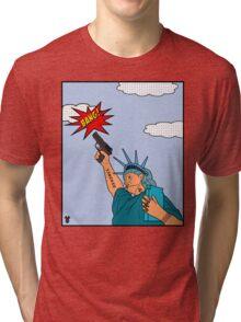 Statue of Vigilante Tri-blend T-Shirt