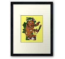 Jaguar Warrior - Codex Borgia Framed Print