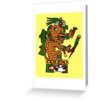 Jaguar Warrior - Codex Borgia Greeting Card