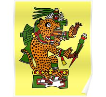Jaguar Warrior - Codex Borgia Poster