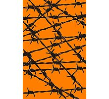 Barbed Wire [Orange] by Chillee Wilson Photographic Print