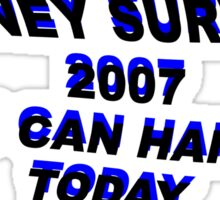 Britney Survived 2007, You Can Handle Today Sticker
