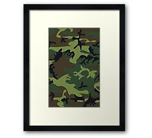 Army Camouflage by Chillee Wilson Framed Print