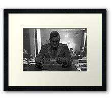 Alan Turing Statue Framed Print