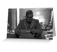 Alan Turing Statue Greeting Card