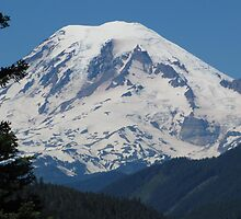 Remarkably Free - Majestic Mount Rainier by M-EK