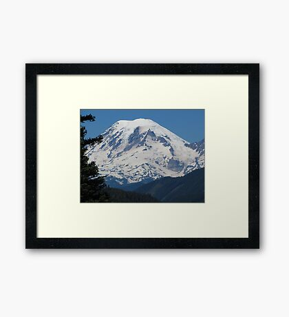 Remarkably Free - Majestic Mount Rainier Framed Print