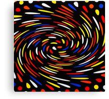 Pokadots in Colour Canvas Print