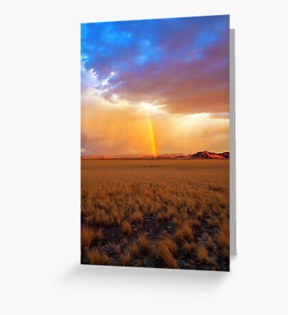 Lighting up the Desert Greeting Card