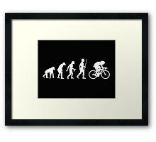 Funny Cycling Evolution T Shirt Framed Print